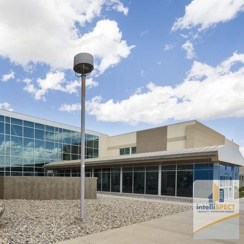 Exterior of a Modern Hospital.