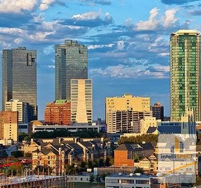 The Skyline of Fort Worth, TX.